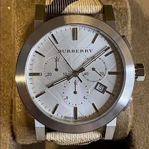 Burberry Unisex The City Silver Dial